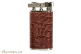 Pearl Stanley Burgundy Small Textured Leather Pipe Lighter