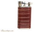 Pearl Stanley Burgundy Small Textured Leather Pipe Lighter Right Side