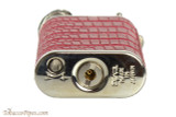 Pearl Stanley Red Small Textured Leather Pipe Lighter Bottom