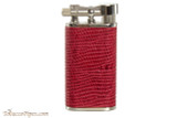 Pearl Stanley Red Small Textured Leather Pipe Lighter Right Side