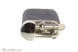 Pearl Stanley Blue Small Textured Leather Pipe Lighter Top
