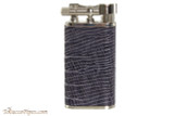 Pearl Stanley Blue Small Textured Leather Pipe Lighter
