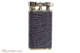 Pearl Stanley Blue Small Textured Leather Pipe Lighter Right Side