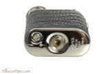 Pearl Stanley Black Small Textured Leather Pipe Lighter Bottom