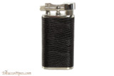 Pearl Stanley Black Small Textured Leather Pipe Lighter Right Side