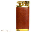 IM Corona Old Boy Gold and Natural Smooth Briar Pipe Lighter Right Side