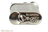 IM Corona Old Boy Rhodium Pipe Lighter with Pipe Shapes Bottom