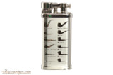 IM Corona Old Boy Rhodium Pipe Lighter with Pipe Shapes
