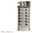 IM Corona Old Boy Rhodium Pipe Lighter with Pipe Shapes Right Side