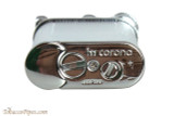 IM Corona Old Boy Chrome Engine Turned Pipe Lighter Bottom