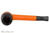 Nording Eriksen Keystone Orange Stem Rustic Bowl Tobacco Pipe Top