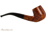 Brigham Mountaineer 323 Tobacco Pipe - Bent Billiard Smooth Right Side