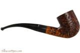 Capri Gozzo 23 Tobacco Pipe - Bent Billiard Rustic Right Side