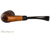 Capri Gozzo 23 Tobacco Pipe - Bent Billiard Rustic Bottom