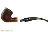 Capri Gozzo 23 Tobacco Pipe - Bent Billiard Rustic Apart