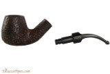 Brebbia Junior Noce 2735 Tobacco Pipe - Bent Brandy Sandblast Apart