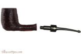 Brebbia Lido Black 100 Tobacco Pipe - Billiard Rustic Apart