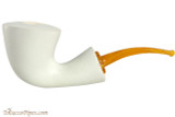 Brebbia Mara Bianca Calabash Tobacco Pipe - Smooth