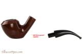Vauen Curve 3335 Red Tobacco Pipe - Bent Sitter Smooth Apart