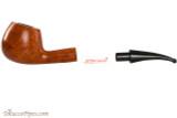 Vauen Curve 131 Light Tobacco Pipe - Bent Apple Smooth Apart