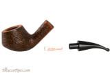 Vauen Curve 430 Brown Tobacco Pipe - Bent Pot Sandblast Apart