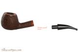 Vauen Curve 431 Brown Tobacco Pipe - Bent Apple Sandblast Apart