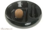 Savinelli Ceramic 1 Pipe Ashtray with Knocker - Green