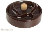 Savinelli Ceramic 3 Pipe Ashtray with Knocker - Brown