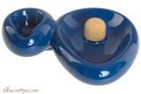 Savinelli Sidecar Ceramic 1 Pipe Ashtray with Knocker - Blue