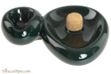 Savinelli Sidecar Ceramic 1 Pipe Ashtray with Knocker - Green