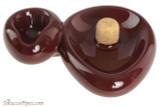 Savinelli Sidecar Ceramic 1 Pipe Ashtray with Knocker - Bordeaux