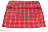 Decatur Roll-Up Pouch - Red Plaid Open