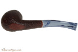 Savinelli Oceano 606 KS Rustic Tobacco Pipe - Bent Billiard Bottom