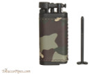IM Corona Old Boy Black and Camo Leather Pipe Lighter Tamp