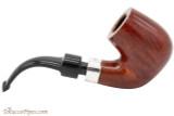 Peterson House Pipe Bent Billiard Terracotta Tobacco Pipe - PLIP Right Side