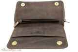 Rattray's Leather 2 Pipe Combo Pouch - Brown Top