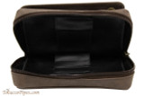 Rattray's Leather 2 Pipe Combo Pouch - Brown Bottom