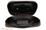 Rattray's Leather 2 Pipe Pouch - Brown Open