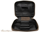 Rattray's 3 Pipe Leather Bag - Brown Open