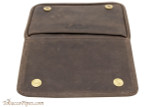 Rattray's 3 Pipe Leather Bag - Brown Top