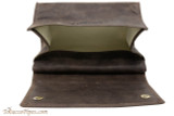 Rattray's Large Standup Pouch - Brown Open