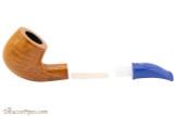 Savinelli Mini 601 Blue Smooth Tobacco Pipe - Bent Billiard Apart