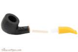 Savinelli Mini 601 Yellow Rustic Tobacco Pipe - Bent Billiard Apart