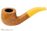Savinelli Mini 601 Yellow Smooth Tobacco Pipe - Bent Billiard