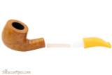 Savinelli Mini 601 Yellow Smooth Tobacco Pipe - Bent Billiard Apart