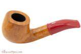 Savinelli Mini 601 Red Smooth Tobacco Pipe - Bent Billiard