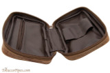 Brigham 2 Pipe Case - Vintage Open