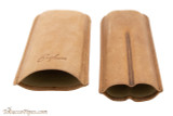 Brigham 2F Corona Cigar Case - Brown Open
