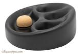 Ceramic 3 Pipe Ashtray with Knocker - Black Side