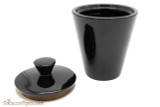 Savinelli Black Ceramic Tobacco Jar  Open